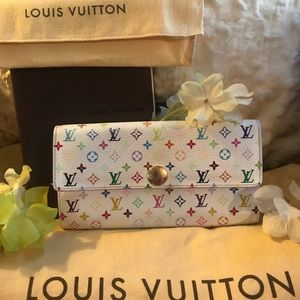 💕AUTH L VUITTON portefeuille MULTICOLORE Wallet💕